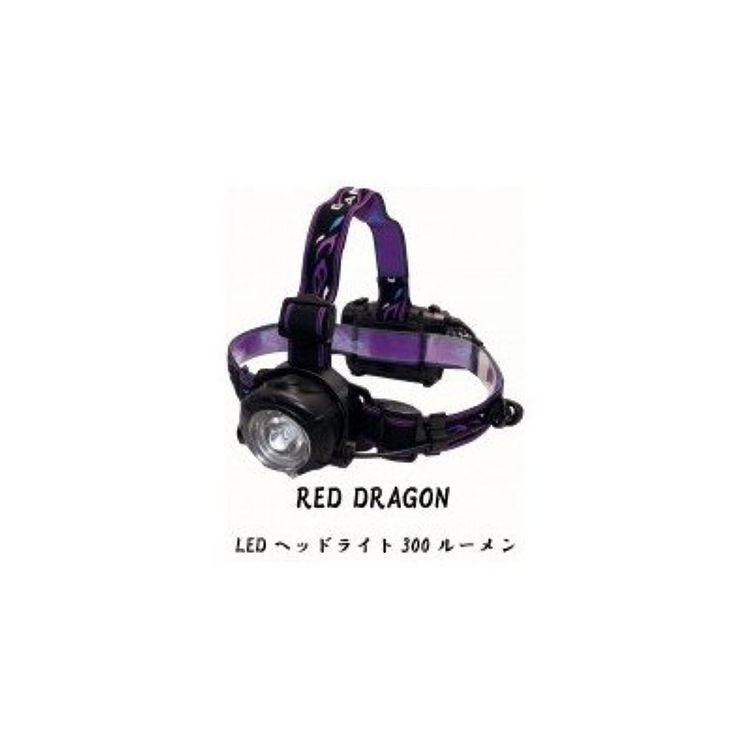 振動する私達導入するRED DRAGON(レッドドラゴン) LEDヘッドライト 300ルーメン RDH-01