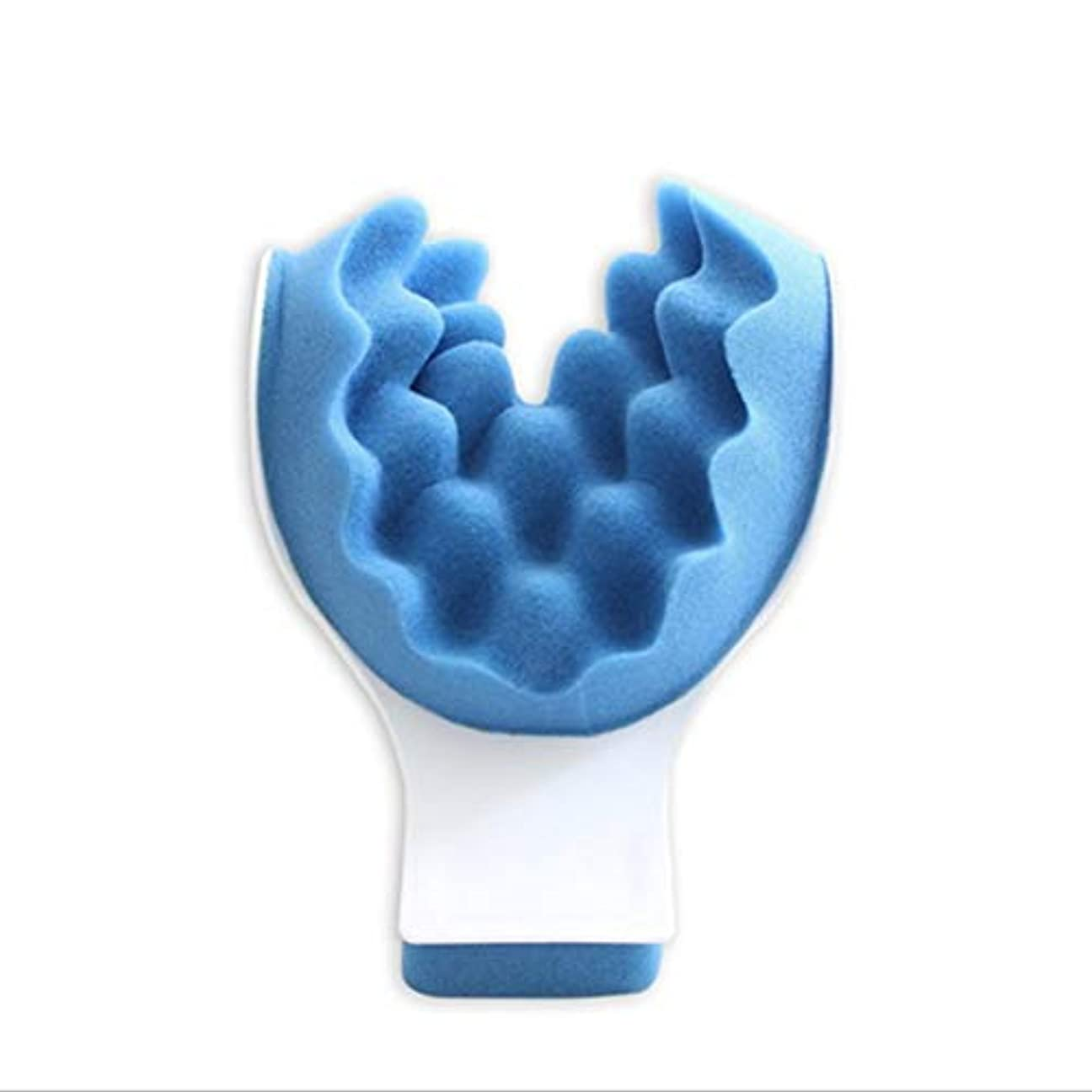 アカデミー浸食食品マッスルテンションリリーフタイトネスと痛みの緩和セラピーティックネックサポートテンションリリーフネック&ショルダーリラクサー - ブルー