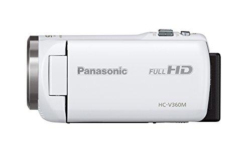 PanasonicHDビデオカメラV360M16GB高倍率90倍ズームホワイトHC-V360M-W