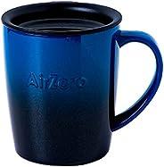 グッドプラス (GoodPlus+) 真空断熱ステンレスマグカップ〈エアゼロ〉300ml グラデブルー【保温 保冷】【安心の蓋付】【飲み頃温度キープ】【結露しない】【丁寧に塗り重ねたスタイリッシュなグラデーションカラー】