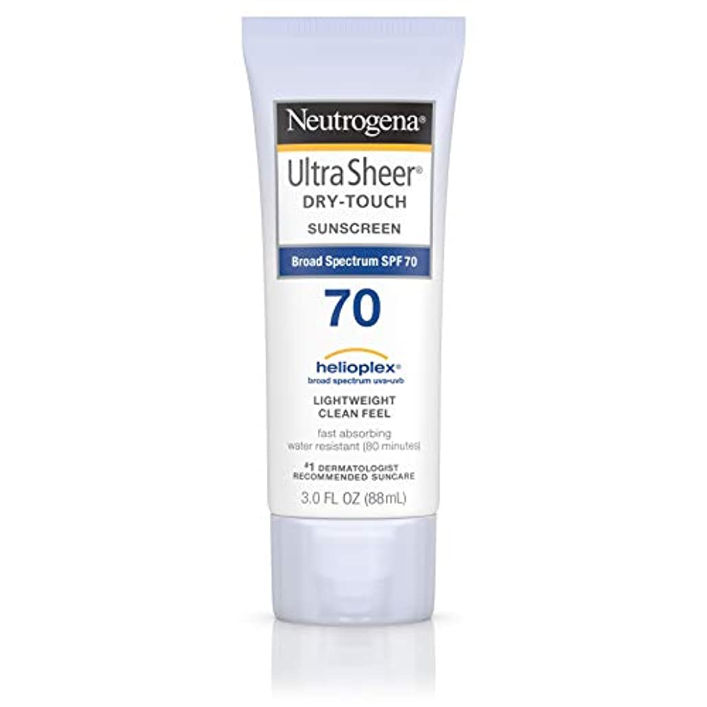 研究脅迫勇気のあるNeutrogena Ultra Sheer Dry-Touch Sunscreen, SPF 70, 88 ml (並行輸入品)