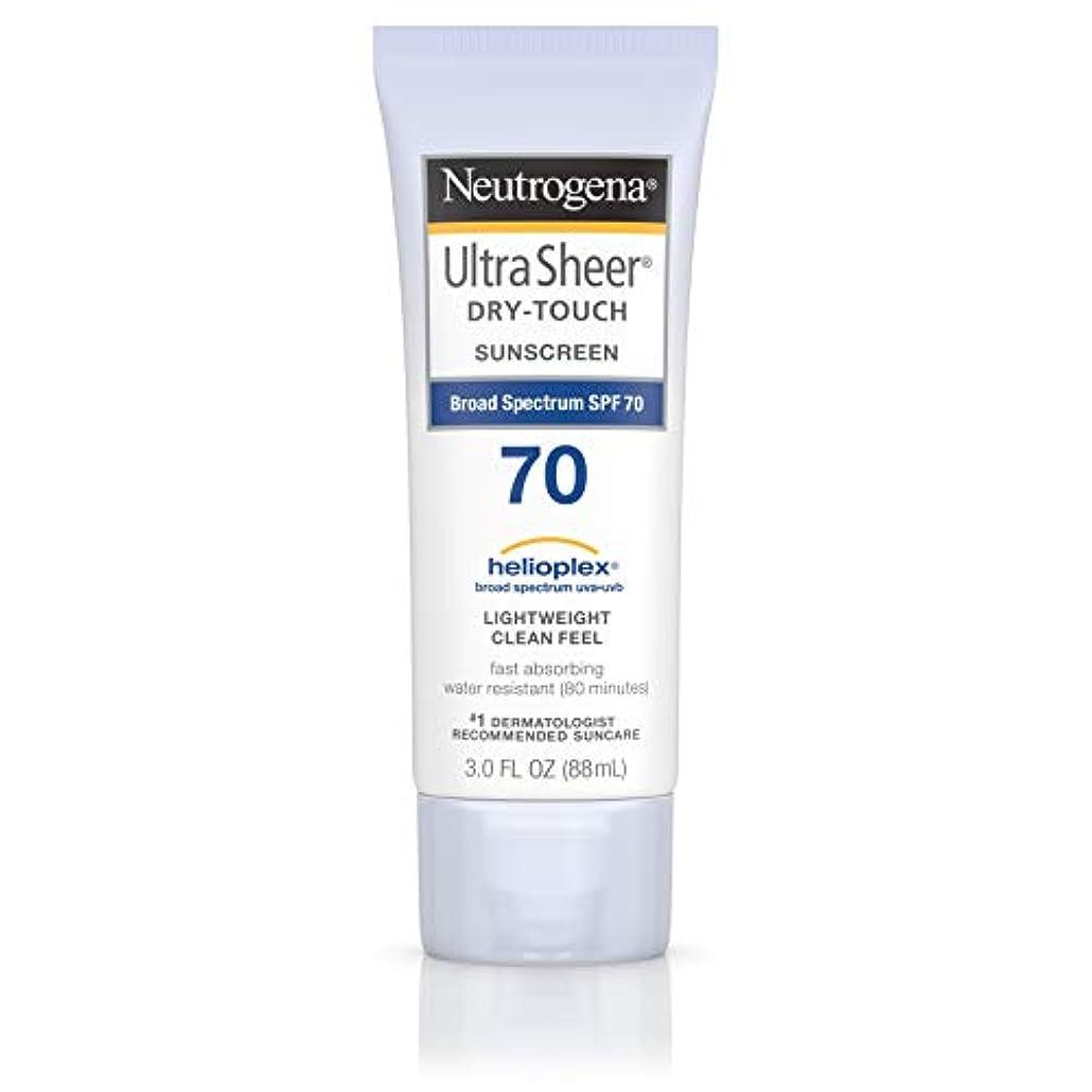 首相髄バーターNeutrogena Ultra Sheer Dry-Touch Sunscreen, SPF 70, 88 ml (並行輸入品)