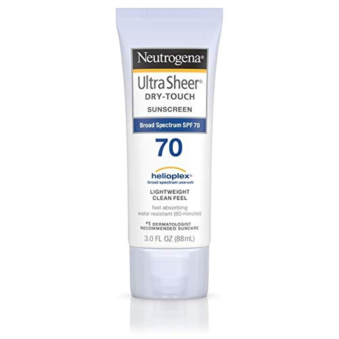 シミュレートする純粋にアンタゴニストNeutrogena Ultra Sheer Dry-Touch Sunscreen, SPF 70, 88 ml (並行輸入品)