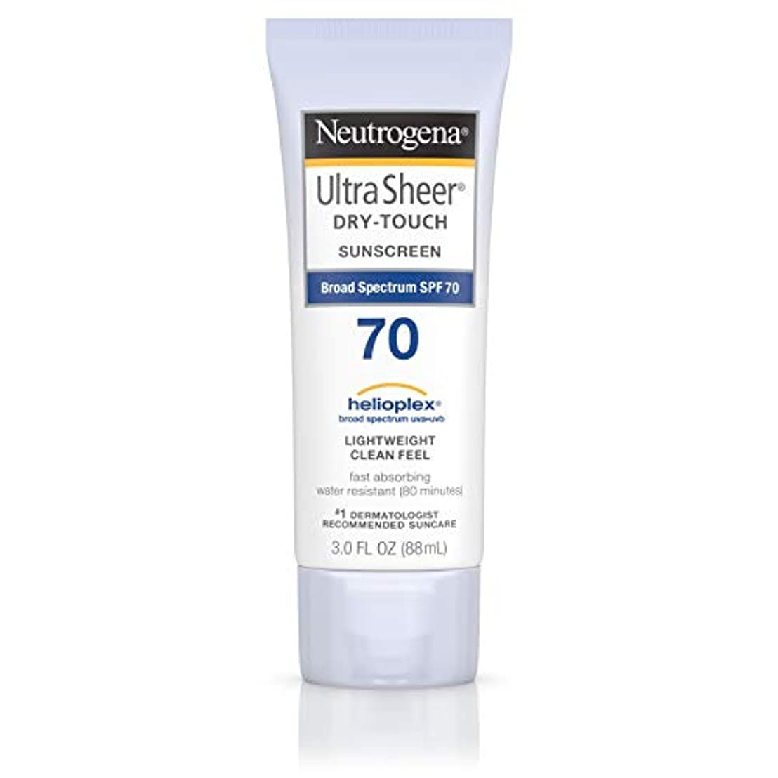 大人好ましい土砂降りNeutrogena Ultra Sheer Dry-Touch Sunscreen, SPF 70, 88 ml (並行輸入品)