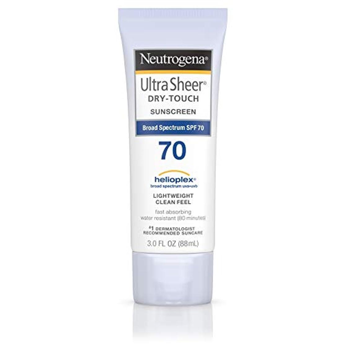 高原叱るそれNeutrogena Ultra Sheer Dry-Touch Sunscreen, SPF 70, 88 ml (並行輸入品)