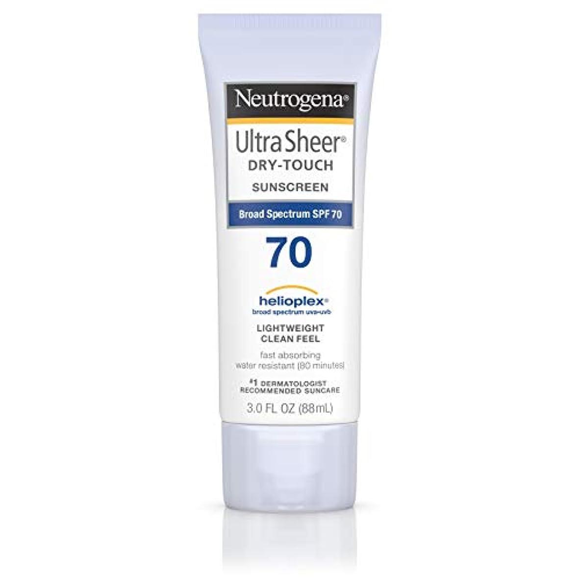 胸ビジネス寛容なNeutrogena Ultra Sheer Dry-Touch Sunscreen, SPF 70, 88 ml (並行輸入品)