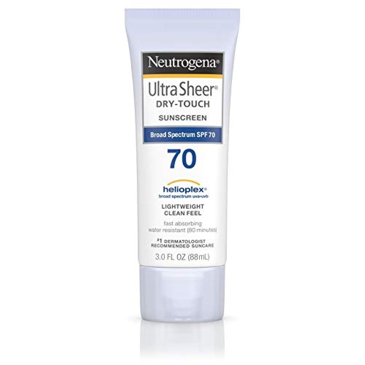 作成者洗う頭痛Neutrogena Ultra Sheer Dry-Touch Sunscreen, SPF 70, 88 ml (並行輸入品)