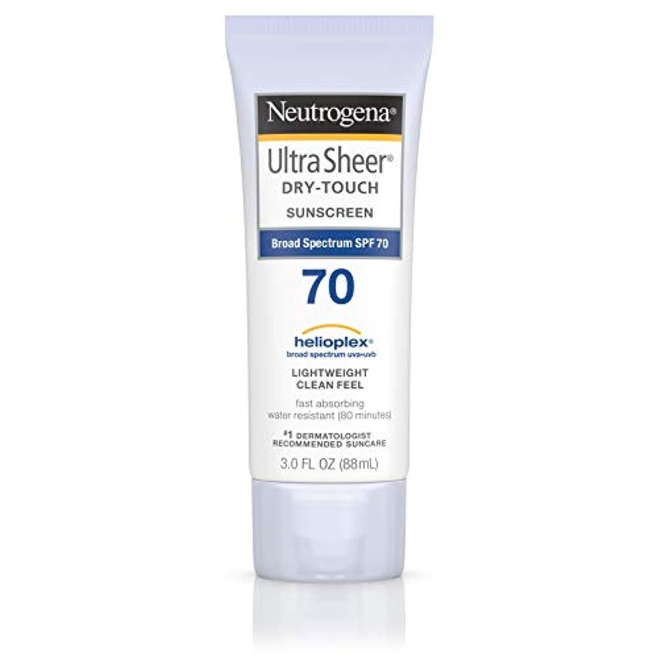 天優雅な破滅的なNeutrogena Ultra Sheer Dry-Touch Sunscreen, SPF 70, 88 ml (並行輸入品)
