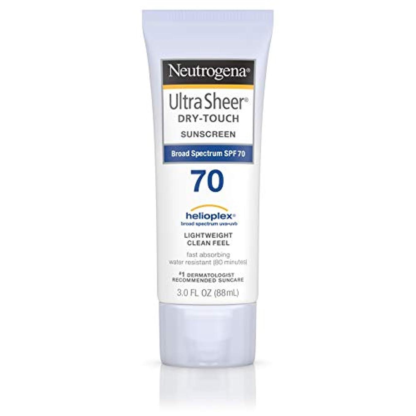 問い合わせジュース解放するNeutrogena Ultra Sheer Dry-Touch Sunscreen, SPF 70, 88 ml (並行輸入品)
