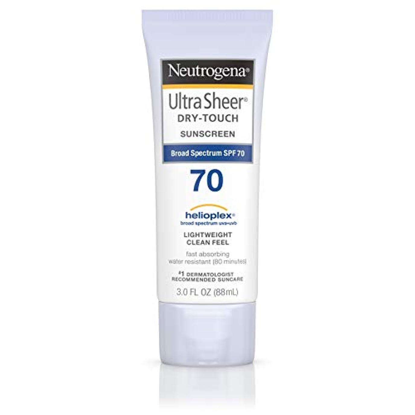 残る狂信者サンドイッチNeutrogena Ultra Sheer Dry-Touch Sunscreen, SPF 70, 88 ml (並行輸入品)