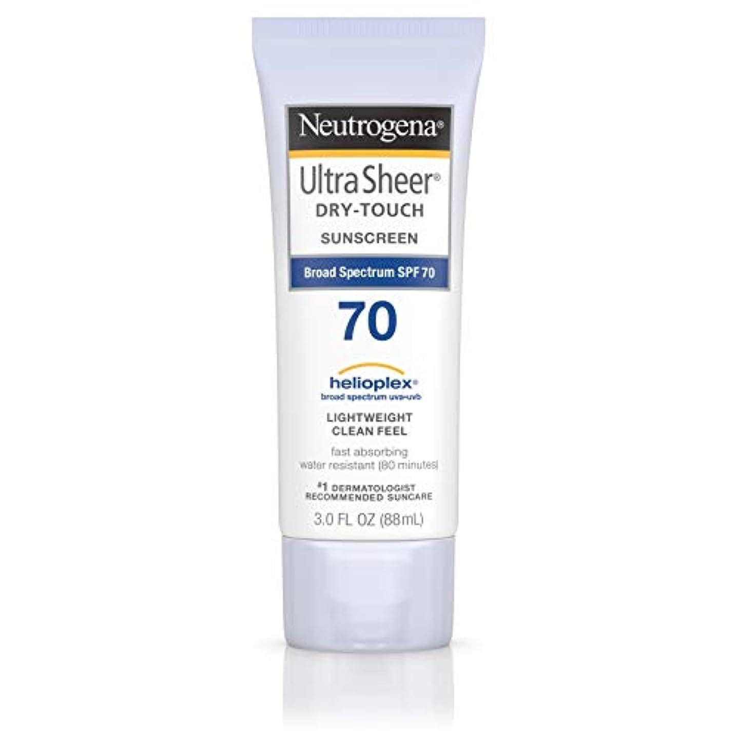 国内の変更可能アナウンサーNeutrogena Ultra Sheer Dry-Touch Sunscreen, SPF 70, 88 ml (並行輸入品)