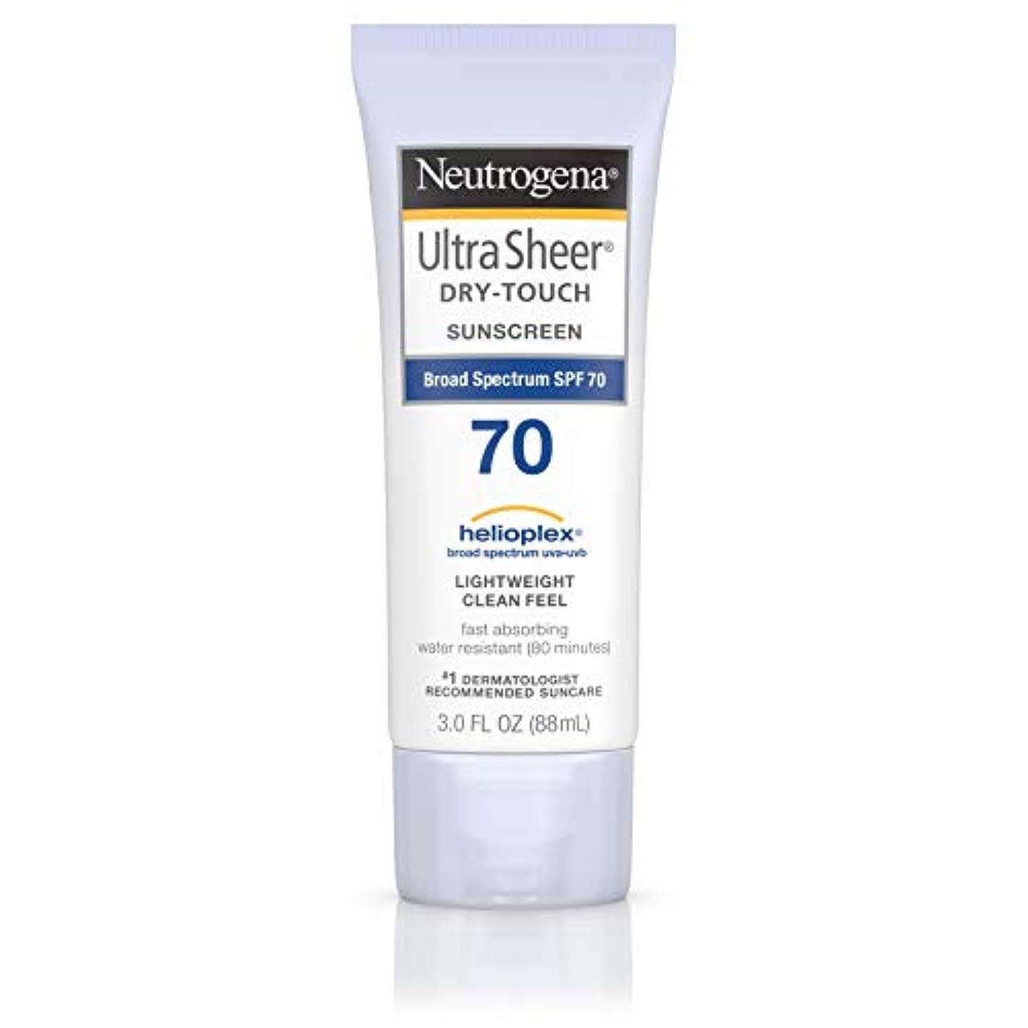 補体ユーザー手のひらNeutrogena Ultra Sheer Dry-Touch Sunscreen, SPF 70, 88 ml (並行輸入品)