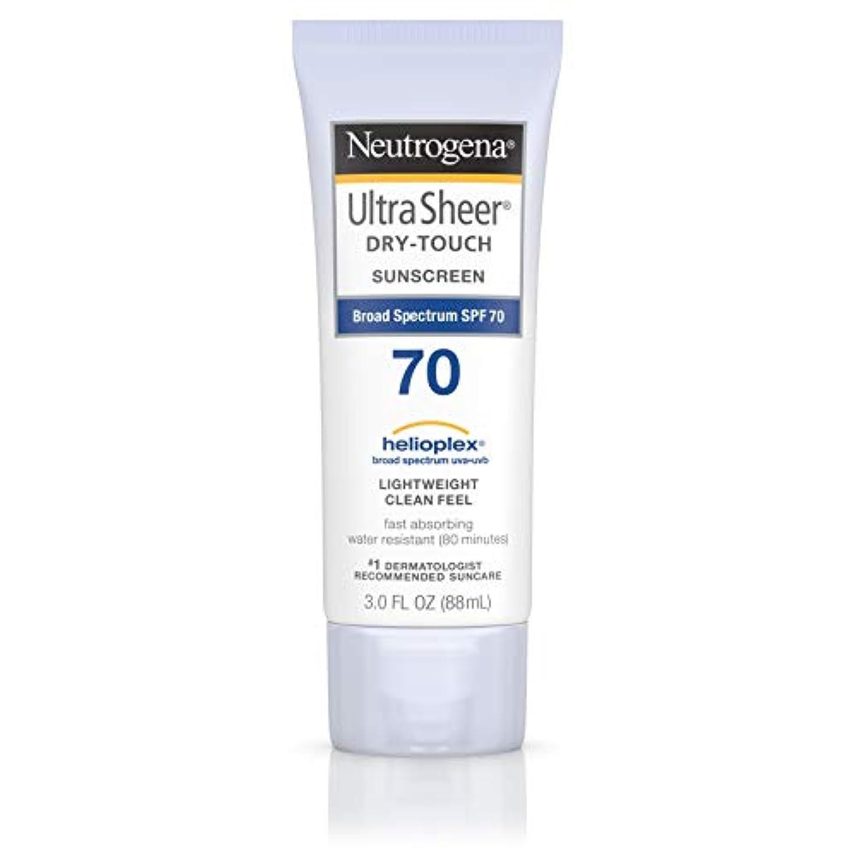 行敏感な感じるNeutrogena Ultra Sheer Dry-Touch Sunscreen, SPF 70, 88 ml (並行輸入品)