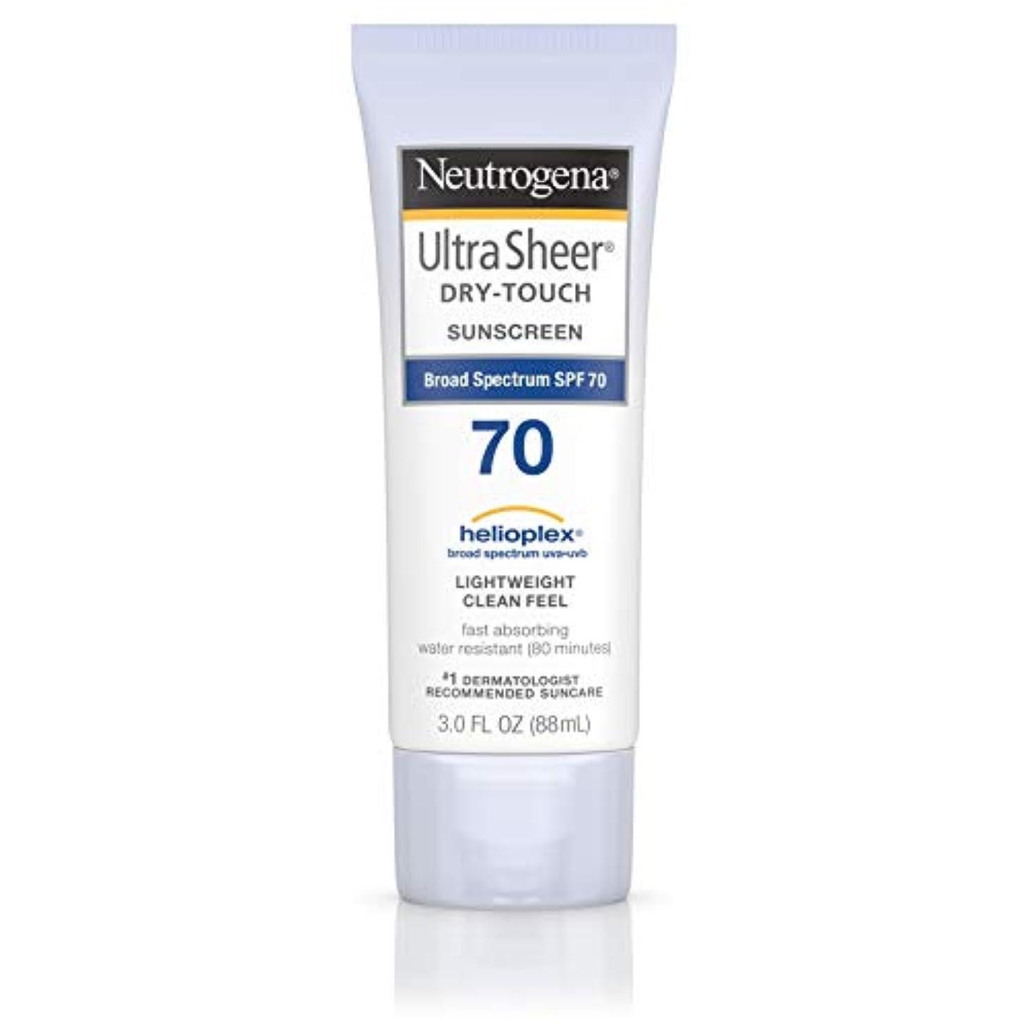 腐食するふくろうさらにNeutrogena Ultra Sheer Dry-Touch Sunscreen, SPF 70, 88 ml (並行輸入品)
