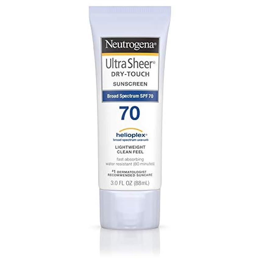 環境に優しいメール振る舞うNeutrogena Ultra Sheer Dry-Touch Sunscreen, SPF 70, 88 ml (並行輸入品)