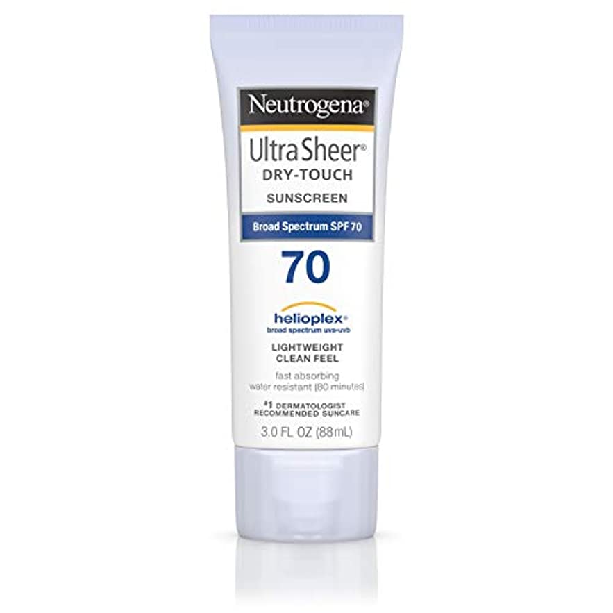 給料出口純正Neutrogena Ultra Sheer Dry-Touch Sunscreen, SPF 70, 88 ml (並行輸入品)
