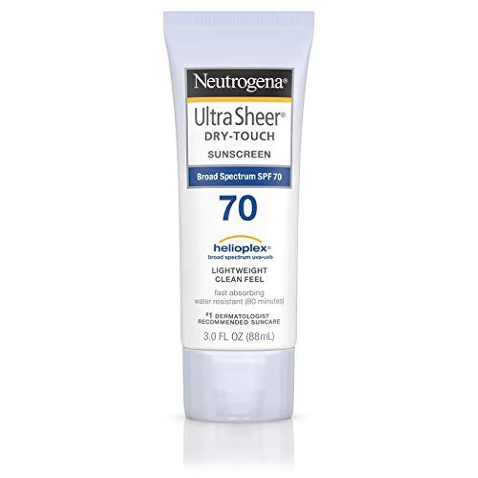 熟読去る定義Neutrogena Ultra Sheer Dry-Touch Sunscreen, SPF 70, 88 ml (並行輸入品)
