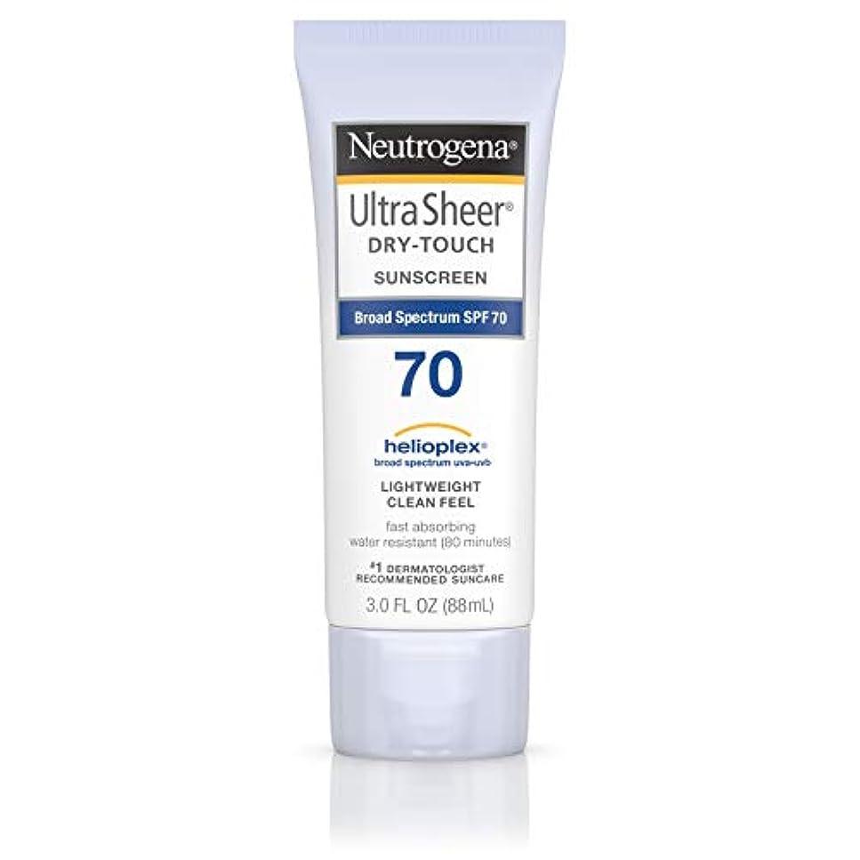 楽しいラダ本Neutrogena Ultra Sheer Dry-Touch Sunscreen, SPF 70, 88 ml (並行輸入品)