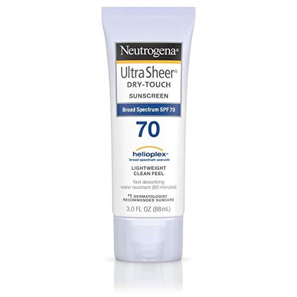 消去仮定、想定。推測触手Neutrogena Ultra Sheer Dry-Touch Sunscreen, SPF 70, 88 ml (並行輸入品)