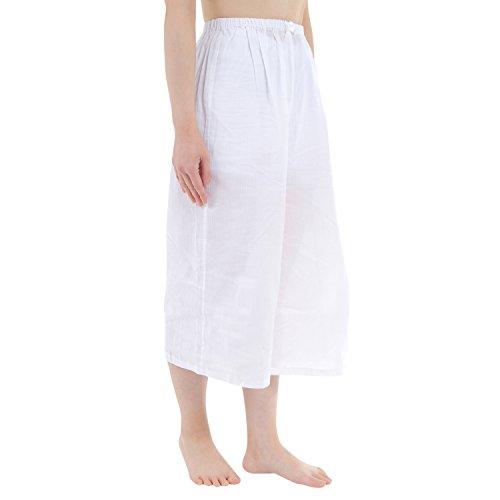 ハセガワ 夏用 婦人用 ステテコ 和装 下ばき クレープ生地 吸汗速乾 綿100% Lサイズ
