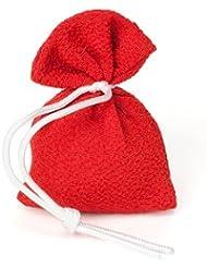松栄堂 匂い袋 誰が袖 上品(無地) 1個入 (色をお選びください) (赤)