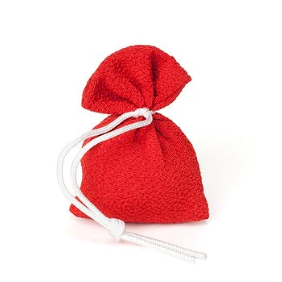 にんじん付録緩やかな松栄堂 匂い袋 誰が袖 上品(無地) 1個入 (色をお選びください) (赤)