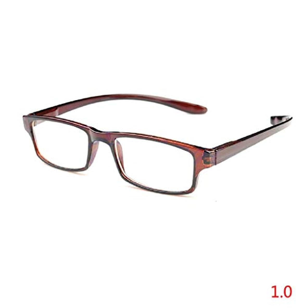 挨拶花束キャプションjackyee首を吊るす伸縮性のある脚を延長することができます老眼鏡(透明コーヒー)-100眼鏡軽い眼鏡老眼鏡新しい1.0 1.5 2.0 2.5 3.0ジオプター快適