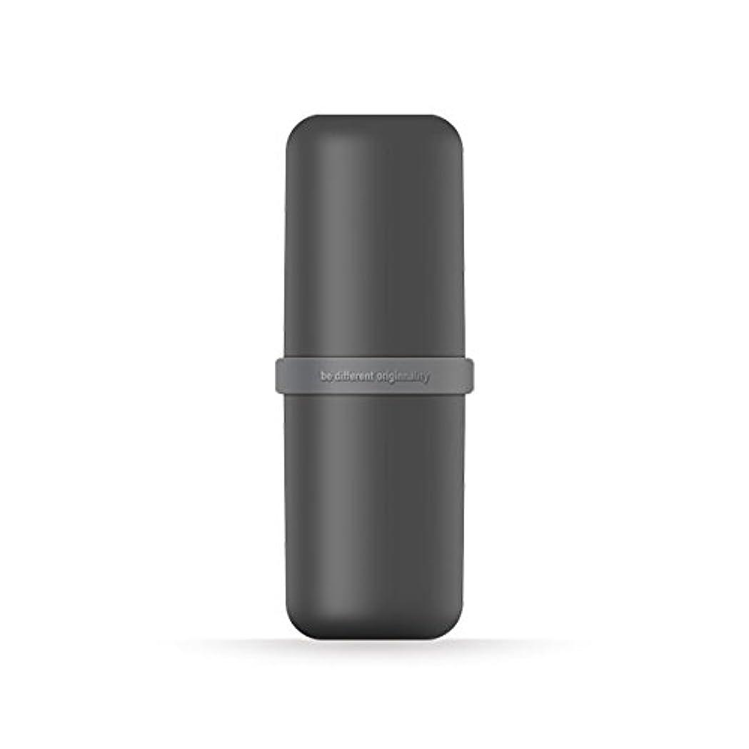 ハイランドサービスオーラルポータブル歯ブラシWashカップ歯磨き粉ボックス便利旅行歯ブラシ歯磨き粉オーガナイザー 6*20cm ブラック