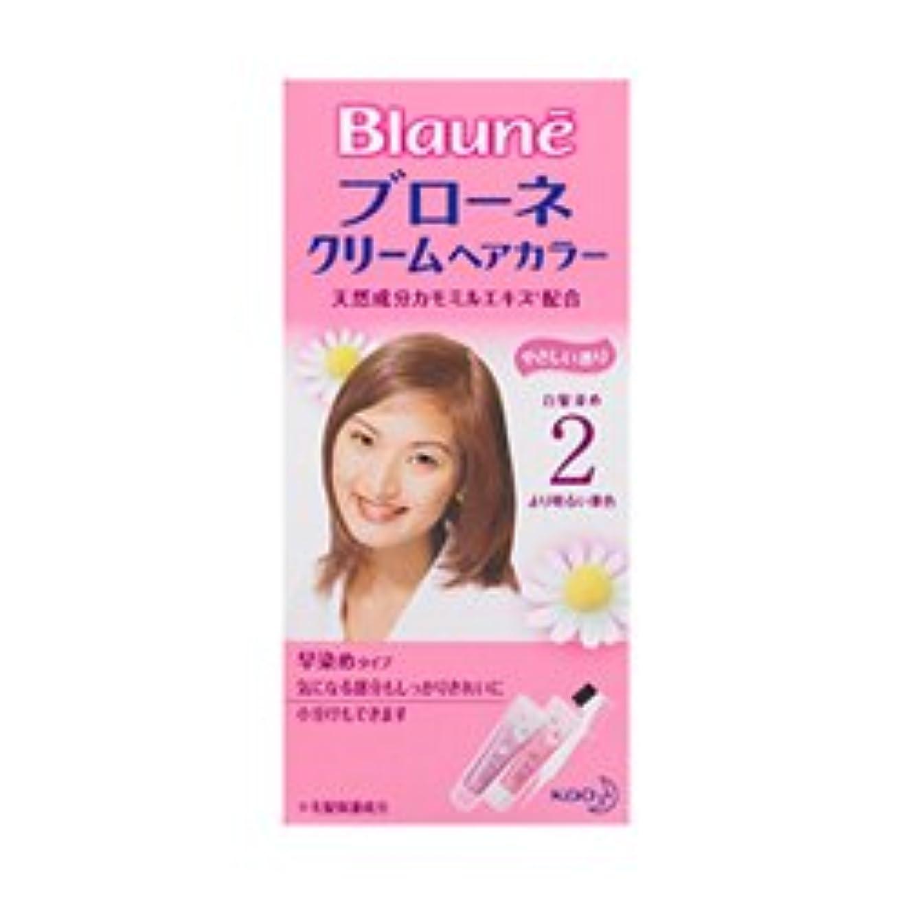 有料外側野望【花王】ブローネ クリームヘアカラー 2より明るい栗色 ×20個セット