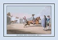 スペインの闘牛1号:キャンバス上のブル12x18クレーの最初の出現