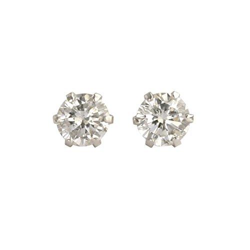【 DIAMOND WORLD 】レディース ジュエリー PT900 ダイヤモンドピアス 0.20ct F・Gカラー ダイヤ使用 6本爪タイプ
