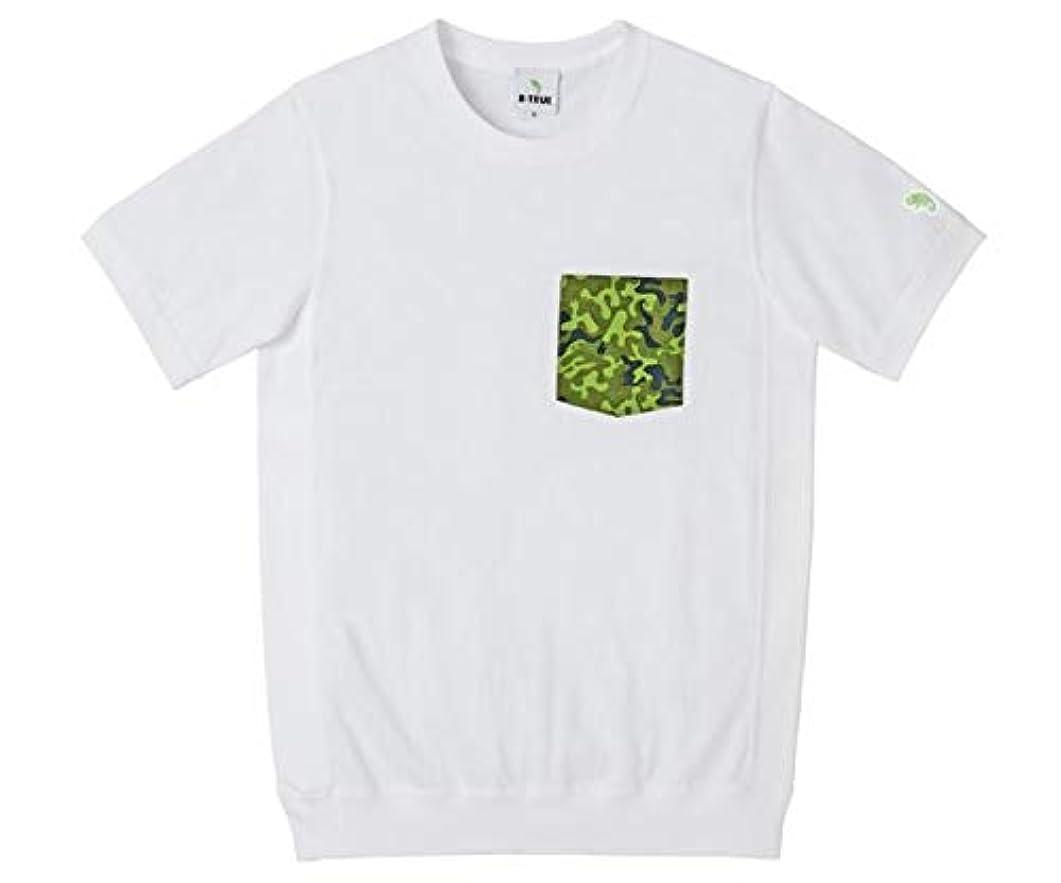 鉄ロバゆるいエバーグリーン(EVERGREEN) B-TRUE オリカモポケットTシャツ M ホワイト.