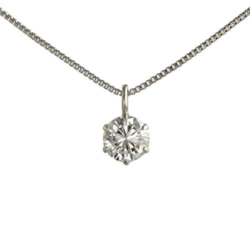 【 DIAMOND WORLD 】レディース ジュエリー PT900 ダイヤモンドペンダントネックレス 0.20ct D~Gカラー SI2クラス Goodカット GGSJ ソーティング (鑑定書の元)付