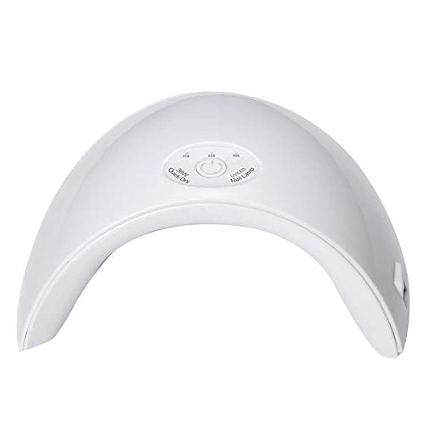 支給バーターローストBFACCIA 硬化ライト36W USB式自動センサー搭載3段階タイマー付きUV LEDライトネイルドライヤーマニュキュア (ホワイト)