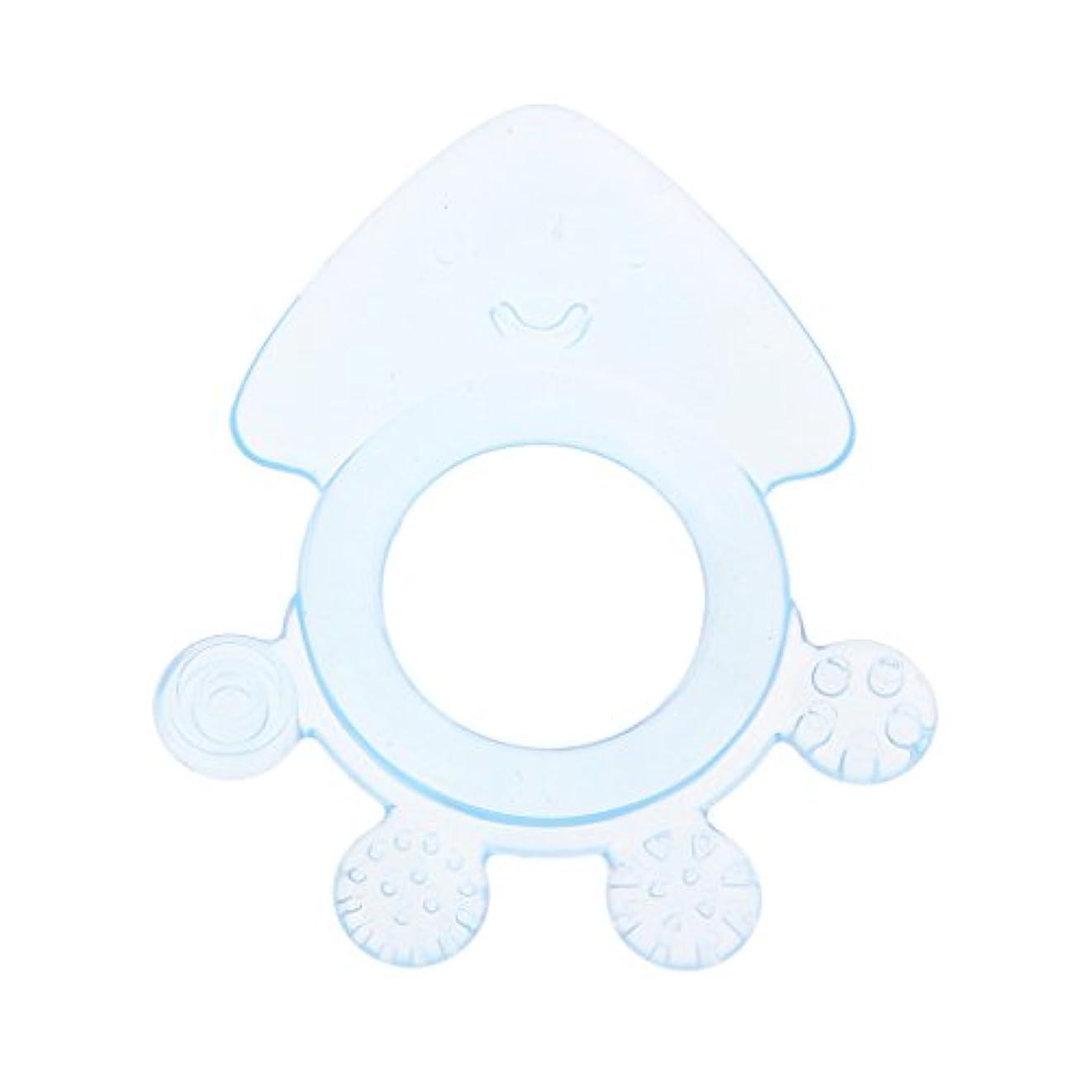 Landdumシリコーンおしゃぶりタコ赤ちゃんおしゃぶり赤ちゃん看護玩具かむ玩具歯が生えるガラガラおもちゃ - 青