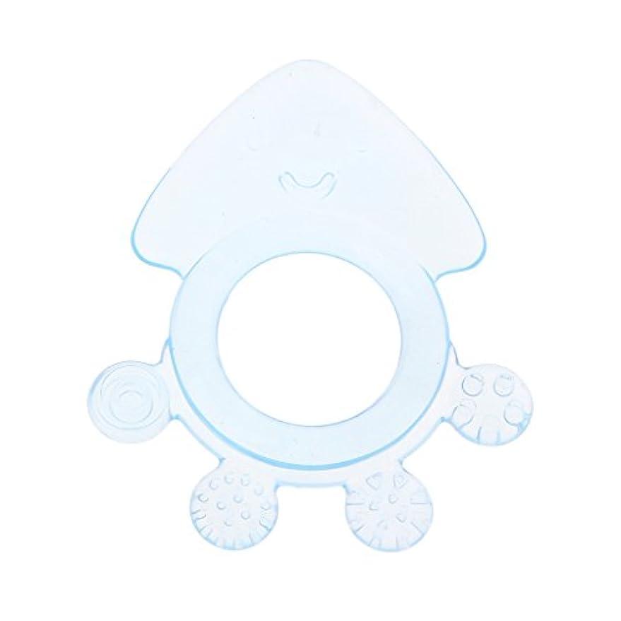 導入する種をまくルアーLanddumシリコーンおしゃぶりタコ赤ちゃんおしゃぶり赤ちゃん看護玩具かむ玩具歯が生えるガラガラおもちゃ - 青