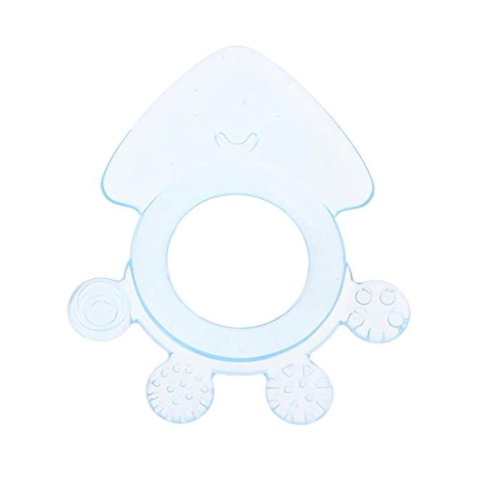 応用応じる休みLanddumシリコーンおしゃぶりタコ赤ちゃんおしゃぶり赤ちゃん看護玩具かむ玩具歯が生えるガラガラおもちゃ - 青