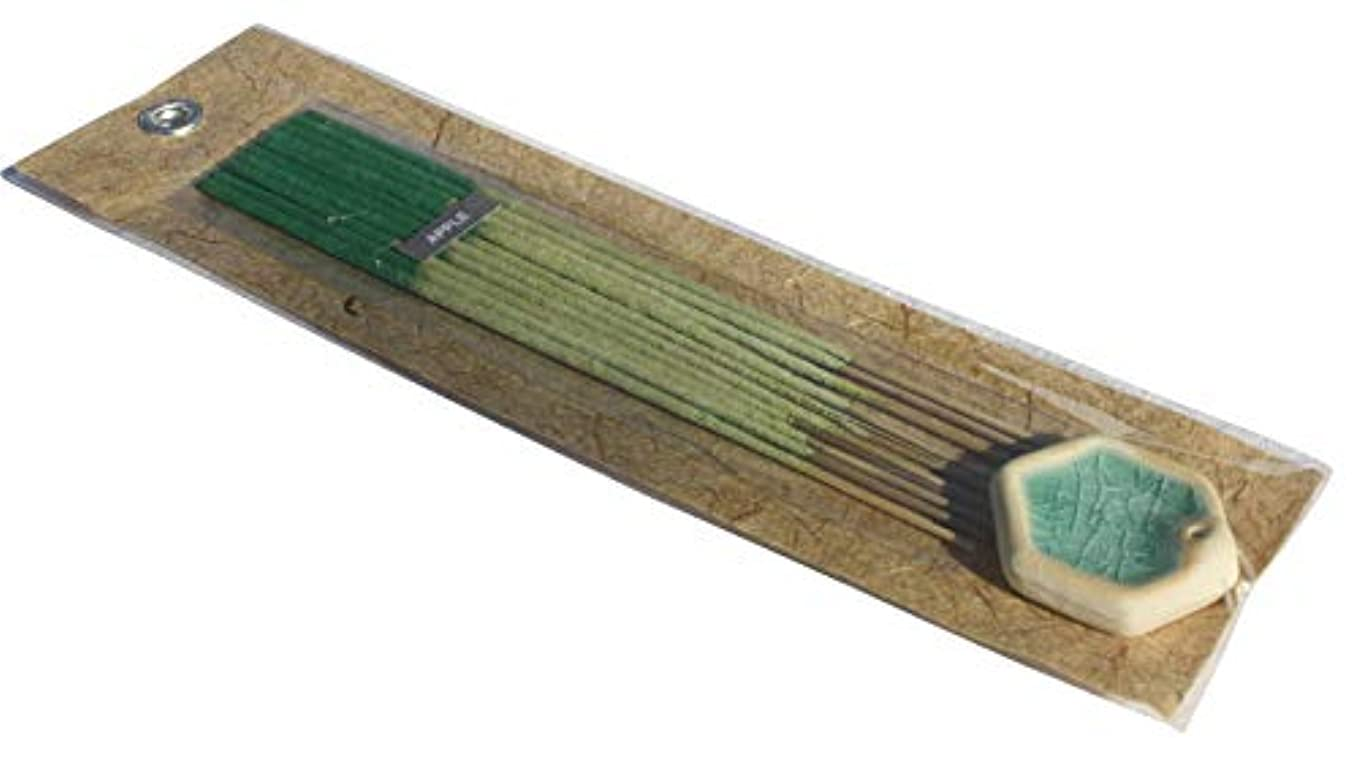 舗装ラッチテクスチャーFull Funk ナチュラルフレグラント香 インセンススティック ギフトパック 10インチ セラミックホルダー pack of 10 sticks グリーン item971910AMZ
