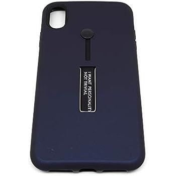 iPhone Xs Max・背面収納「バンカーベルト+スタンド」付き TPU + PC サブケース (NAVY BLUE)
