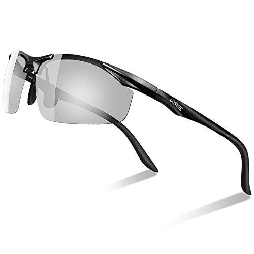 COSVER 調光サングラス 偏光サングラス メンズ スポーツサングラス 運転 超軽量 偏光グラス UV400 紫外線カット 運転 自転車 釣り ランニング ゴルフ 高速変色 (調光206)