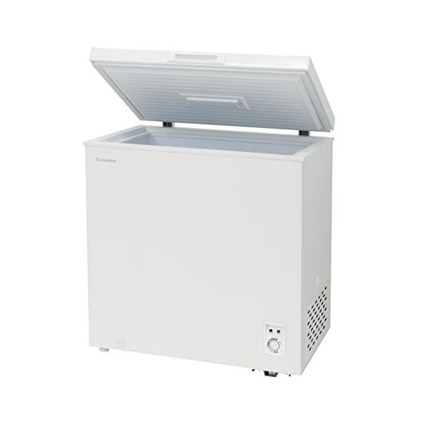 チェスト型冷凍庫 142L ホワイト 庫内灯付...の紹介画像3