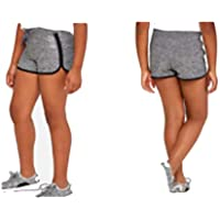Justice Girls Active Dolphin Shorts Graphite Heather Grey