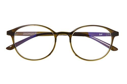 ボストン型PCめがね|Zoff PC CLEAR PACK (ブルーライト50%カット) ゾフ PCメガネ 眼鏡 めがね 黒縁 ダテメガネ メンズ 男性用 レディース 女性用 プラスチック