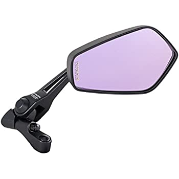 タナックス (TANAX) バイクミラー ナポレオン シャークミラー3 ブラック 防眩鏡【RAYSAVE】 左右共通 10mm正ネジ AOS3