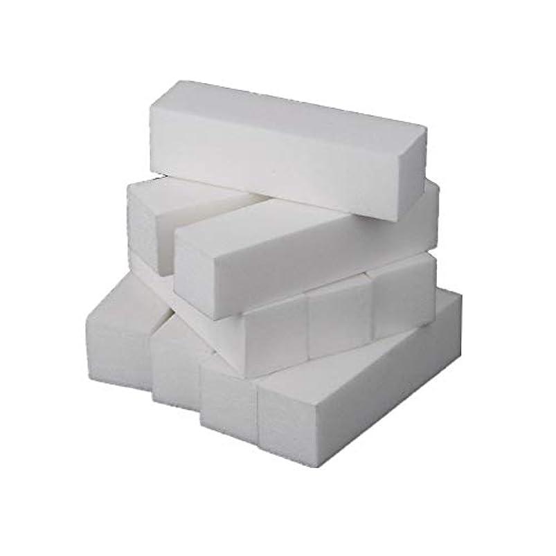 天皇解読するにやにやネイルアート 専用 爪やすり 爪磨き 4面 10本 ブロックバッファー ネイルシャイン ネイルケア