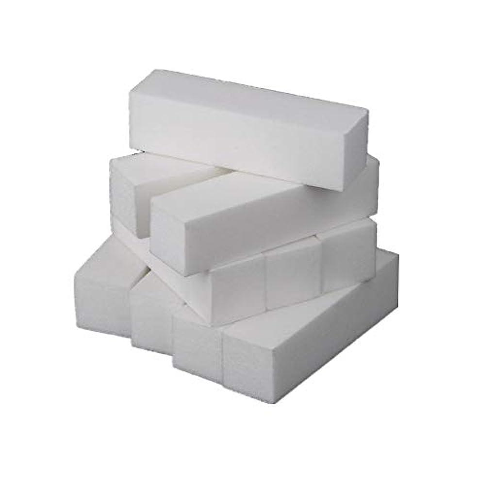 ワーディアンケースまたねウナギネイルアート 専用 爪やすり 爪磨き 4面 10本 ブロックバッファー ネイルシャイン ネイルケア