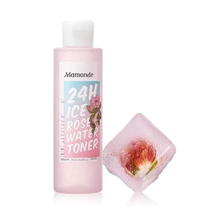 バイオリニスト広範囲に本【マモンド.mamonde](公式)24Hアイスローズウォータートナー(250ml)(2019.05 new product)/ ice rose water toner