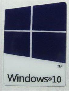 『WINDOWS 10 エンブレムシール 青色 22mm×16mm』のトップ画像