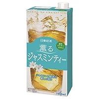三井農林 日東紅茶 薫るジャスミンティー 1L紙パック×6本入×(2ケース)