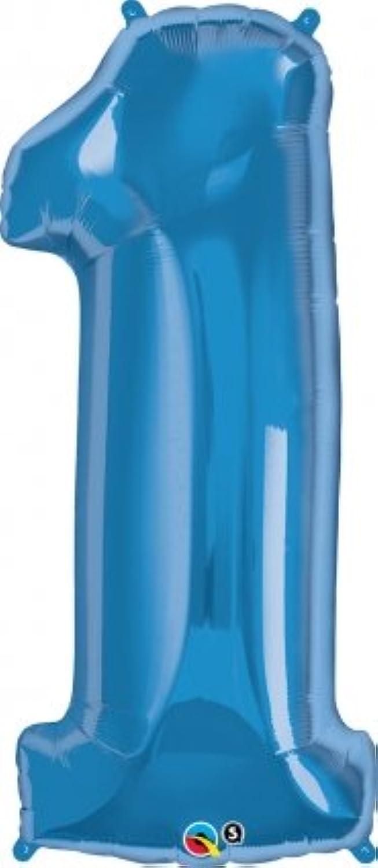 クォラテックス社バルーン数字 (1)大きさ約90センチ ブルー Qualatex number big baloon お誕生日 飾り 数字 ナンバー